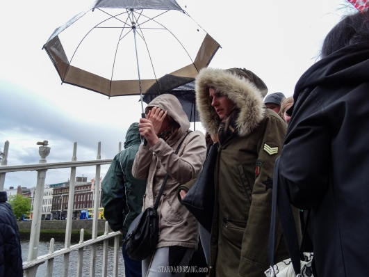 Rain and coats ladies - Dublin late May 2017