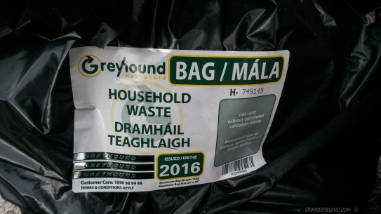 Ireland waste bin label charge
